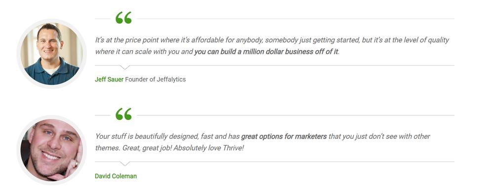 thrive-testimonials